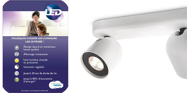 funcional lampara LED philips zesta de diseño contemporaneo para iluminación focalizada