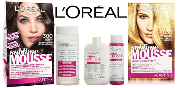 L'Oréal sublime mousse tinte para cabello barato