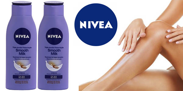 nivea smooth milk triple accion 400 ml pack 2 unidades barato