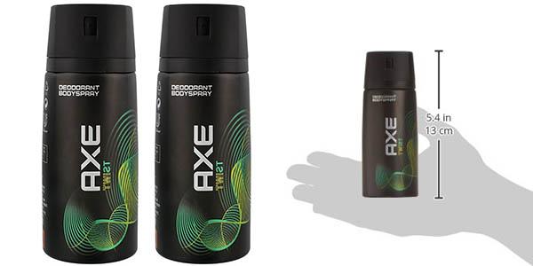 pack 2 desodorantes axe twist 150 ml spray baratos