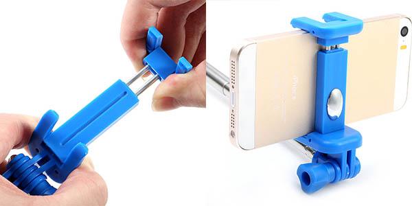 Palo selfie ajustable con trípode