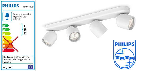 philips zesta foco LED con 4 proyectores regulables barato