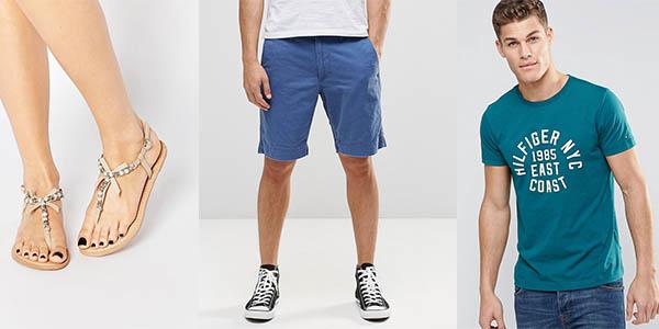 ropa verano para hombre y mujer rebajada tienda moda asos junio 2016