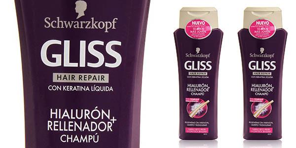 schwarzkopf gliss hialuron champu 250 ml pack 2x1 barato