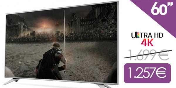 Smart TV LG 60UH650V barato