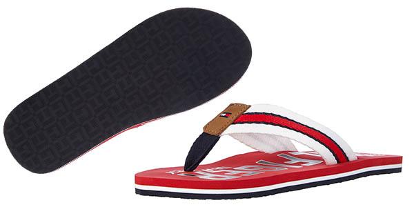 tommy hilfiger b2285Anks 11d sandalias flip fop comodas color rojo