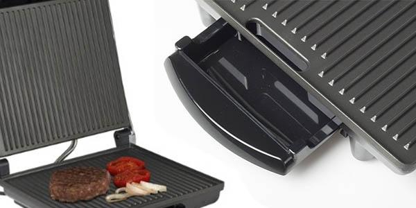 tristar gr-2848 plancha grill electrica con recogecables y bandeja para grasa