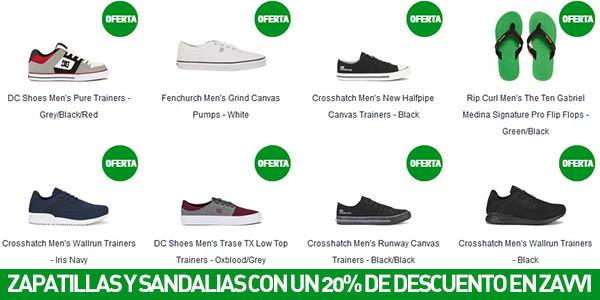 Descuentos en zapatillas y sandalias para hombre