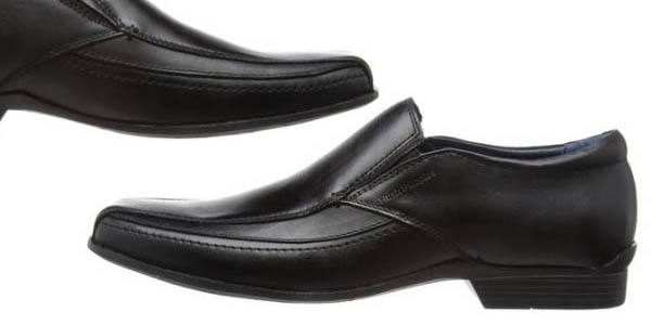 zapatos negros formales masculinos diseño actual hush puppies moderna slip on a precio brutal