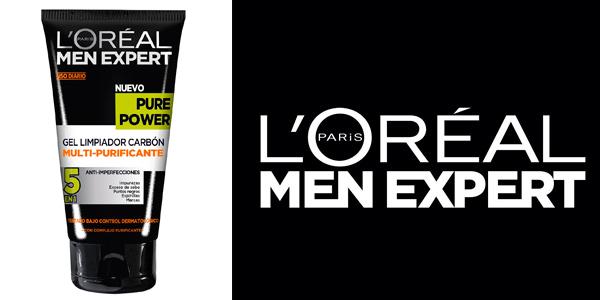 Gel exfoliante carbon negro- loreal-men-expert