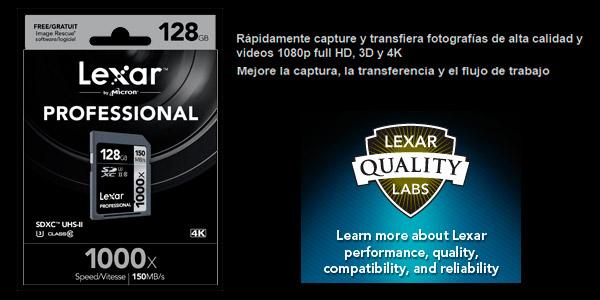 Tarjeta Memoria Lexar SDXC 128GB oferta