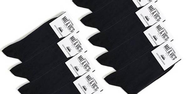 calcetines negros algodon uso diario