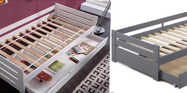 cama individual con almacenaje inferior