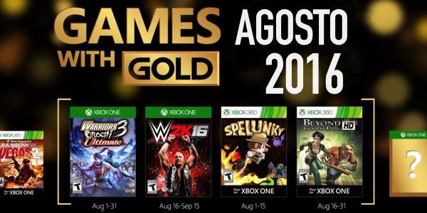 Juegos gratis con Xbox Live Gold agosto 2016