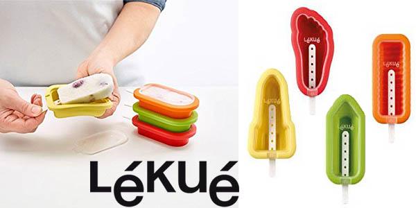 kit de moldes para helados lekue apilables con formas baratos