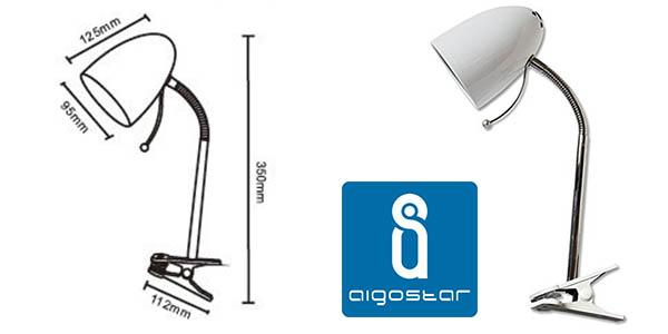 lampara flexo con pinza para mesa o estantes barato