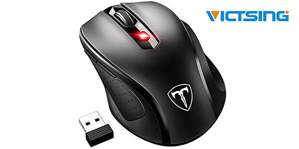 Mini ratón inalámbrico VicTsing con 6 botones y 2.400 DPI
