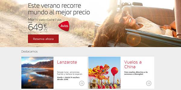 promocion descuento vuelos iberia españa europa