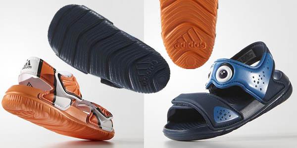 sandalias comodas para niños adidas disney nemo