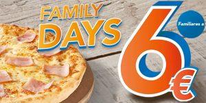 Telepizza Family Days pizzas familiares a 6 euros