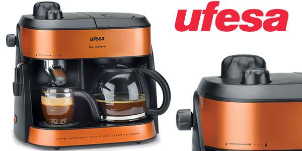 ufesa ck7355 cafetera doble electrica para expresso y americano barata