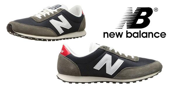 Zapatillas New Balance 410 en marrón y azul para hombre rebajadas en Amazon