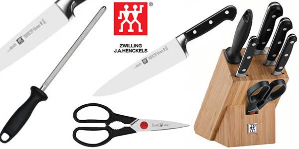 zwilling professional s set 7 cuchillos y tijeras barato 12 julio 2016