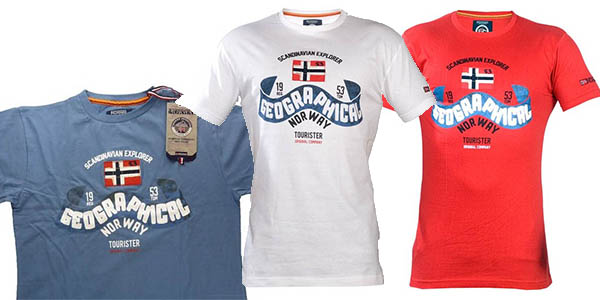 camisetas basicas para vestir a diario geographical norway de manga corta