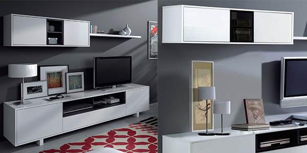 conjunto comedor y salón con mueble para el televisor en oferta