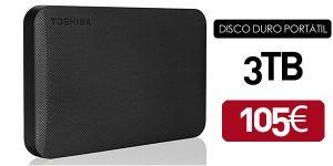 Disco duro portátil Toshiba Canvio Ready 3TB