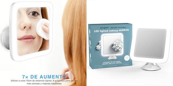 espejo baño aumento luz led barato