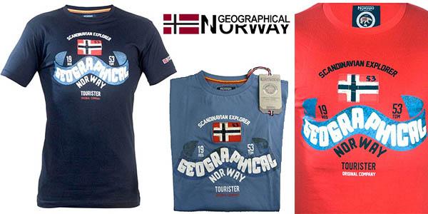 geographical norway camisetas casual baratas