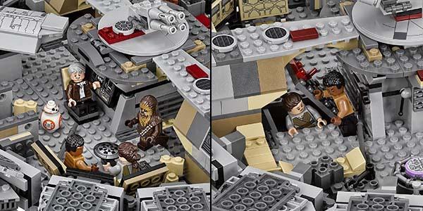 Interior Halcón Milenario LEGO