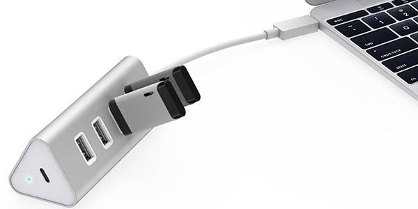 Hub Aukey USB 3.0 metálico