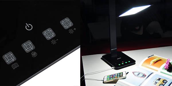 lampara mesa potente dimming inteligente relacion calidad-precio brutal