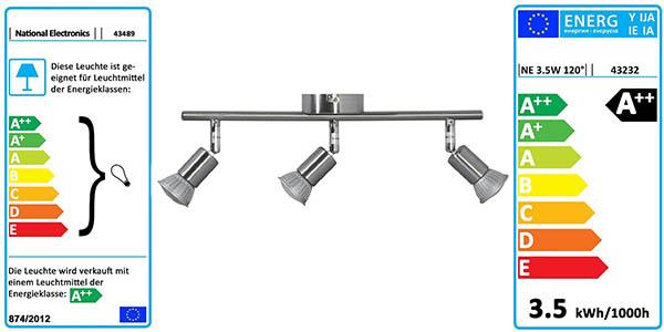 lampara de techo metalica diseño moderno de bajo consumo