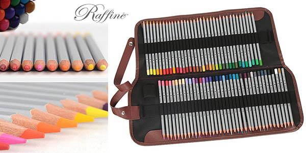 marco raffine estuche de 72 lapices de colores para bellas artes barato