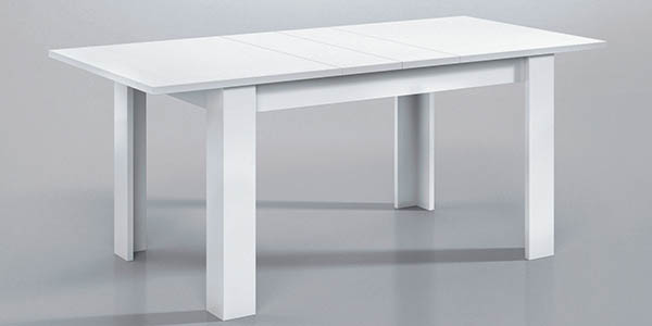 mesa due-home madera melamina blanca teka o nogal