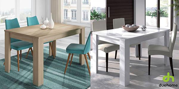 mesa madera extensible 190 cm relacion calidad-precio brutal