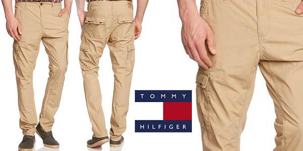 pantalones tommy hilfiger denim shawn cargo bolsillos laterales baratos