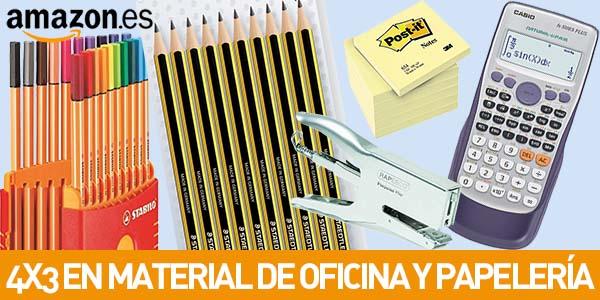 Promoción 4x3 en material de oficina y papelería