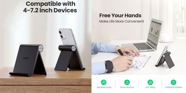 Soporte multiángulo de sobremesa Ugreen para smartphone en oferta