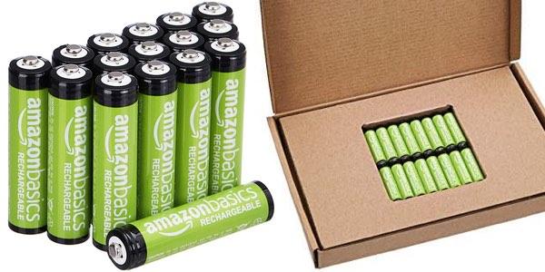 AmazonBasics pilas recargables baratas