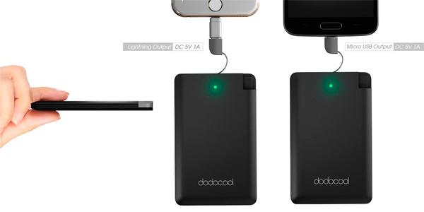 bateria externa ultrafina dodocool 2500
