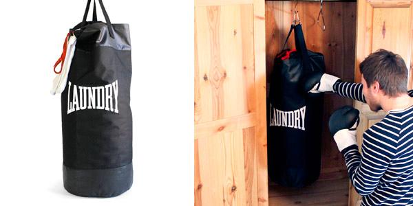 Bolsa para ropa sucia con diseño de saco de boxeo