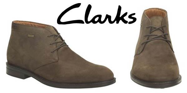 clarks chilver hi gtx botas cuero hombre baratas