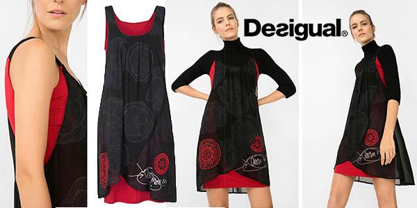 desigual blackville straps vestido mujer barato