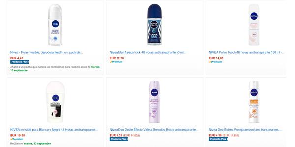 desodorantes nivea oferta amazon packs