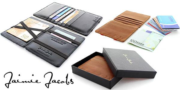 jaimie jacobs flap boy slim cartera tarjetas hombre oferta flash amazon 19 septiembre