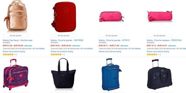 Maletas y bolsos de marca Kipling con descuento